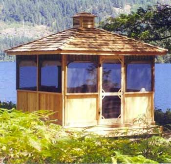 Hot Tub Gazebos Screened Square 10 X Gazebo Plans Wooden Designs By Cedarshed Industries