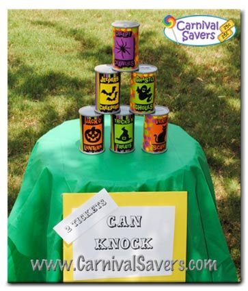 halloween games pumpkin knock down http www one stop party ideas