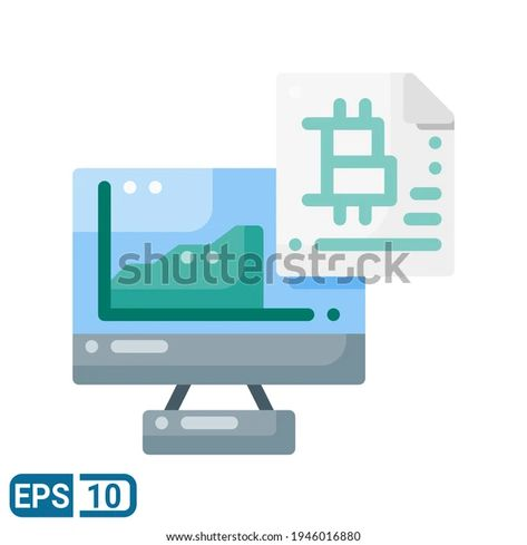 Bitcoin Icon Flat Style Isolated On Stock Vector (Royalty Free) 1946016880