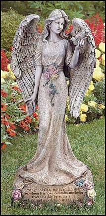 angel garden. praying angel garden figure or memorial from joseph studio | angel, heavenly father and guardian angels n