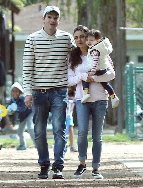 Ashton Kutcher Mila Kunis And Their Daughter Wyatt