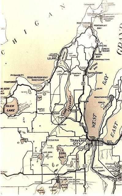 Ros mon Higgins Lake MI Resort and Store Lake Map Card RPPC