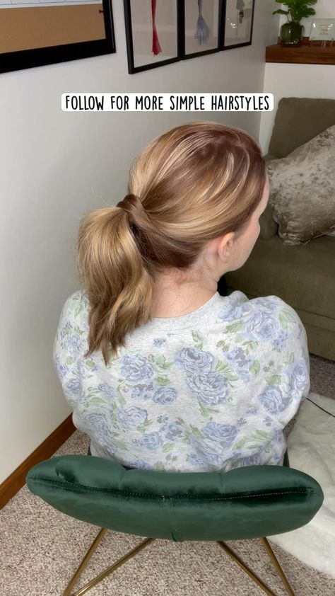 Fast, simple hairstyle   Ponytail hair   1 minute hairstyle