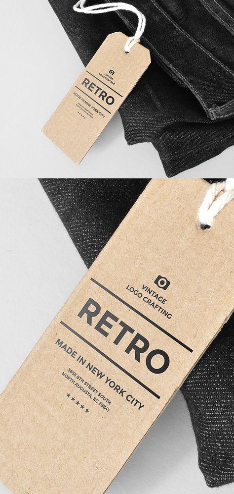 Cardboard Tag Mockup