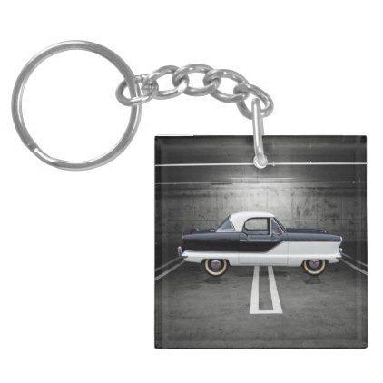 Ford Thunderbird Rounded Rectangle Key Chain Keychain Fob