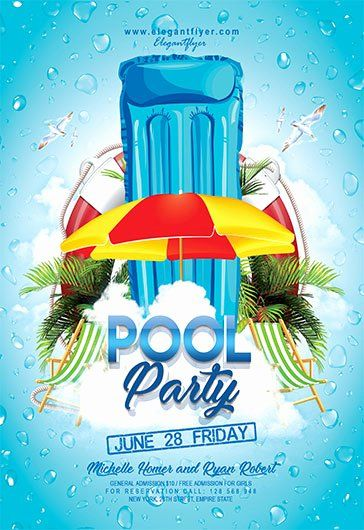 Pool Party Flyer Templates Free Best Of Pool Party V04 Flyer Psd Template By Elegantflyer Pool Parties Flyer Party Flyer Event Flyer Templates