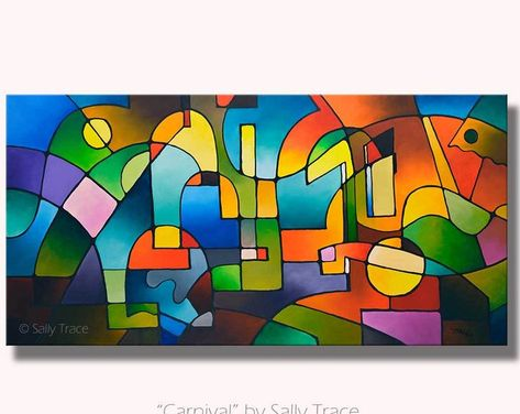 HAVEN Original Abstract Painting Modern Art Tree Print decor by Fidostudio