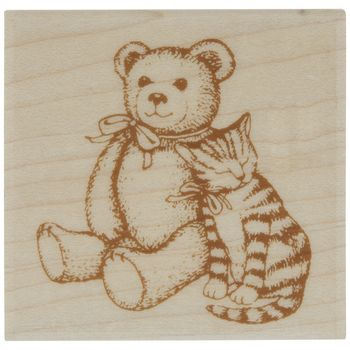 Teddy Bear Kitten Rubber Stamp Hobby Lobby 1882216 In 2020