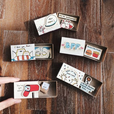 Any Occasion Matchbox-card Set - Set of 5/Unique Anniversary Gifts/Gift for Him/Gift for Her/Birthday/Valentine/Mother/Father/Best friend