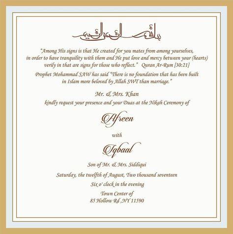 Muslim Wedding Invitations Wedding Invitation Wording For Muslim Wedding Ceremony Muslim - denchaihosp.com