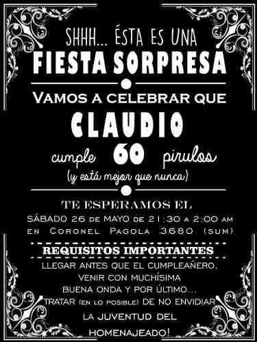 Pin De Cecilia En Cumpleaños Invitacion Cumpleaños Adultos