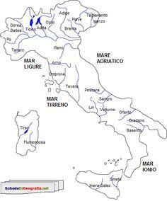 Cartina Geografica Fiumi Italia.Principali Fiumi Italiani Quaderni Di Scuola Geografia E