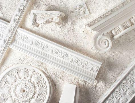 Stuckleisten Rosetten Und Zierprofile In Der Modernen Wohnung Stuckleisten Dekorieren Zierleiste Wand