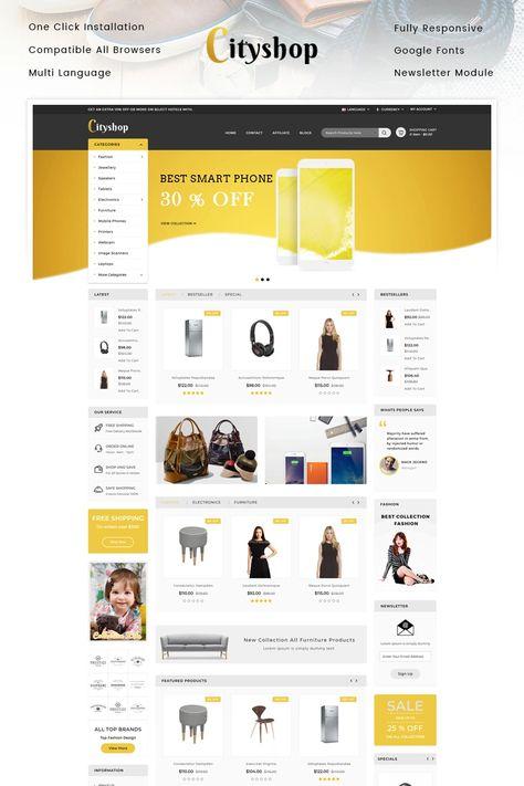 Cityshop - Multipurpose Store OpenCart Template #96096