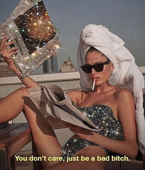 tags: sparkly, quote, bad bitch quote, fashion quote, motivating quote, fashion, kylie jenner, wall art, wall collage, aesthetic wall collage, collage inspo