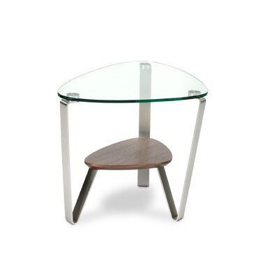 Bdi Dino 3 Legs End Table In 2020 End Tables Glass Side Tables