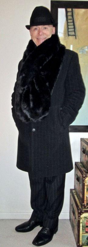 dandystyle Hugo Boss overcoat, faux fur...