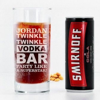 Personalised Engraved Highball Tumbler Mixer Glass Gin /& Tonic Vodka /& Coke