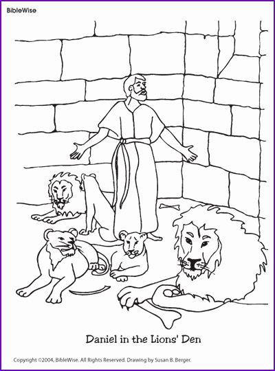 Daniel And The Lions Den Coloring Page Inspirational Coloring