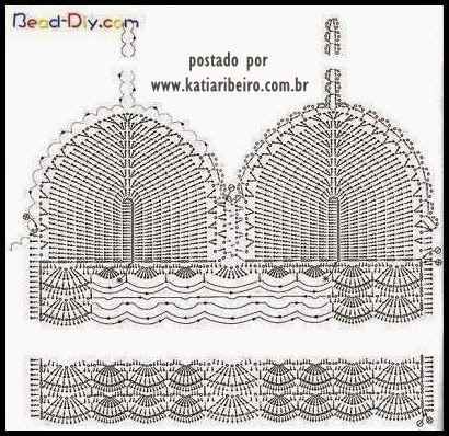 Katia Ribeiro Acessórios: Cropped top crochet - Top em crochê: