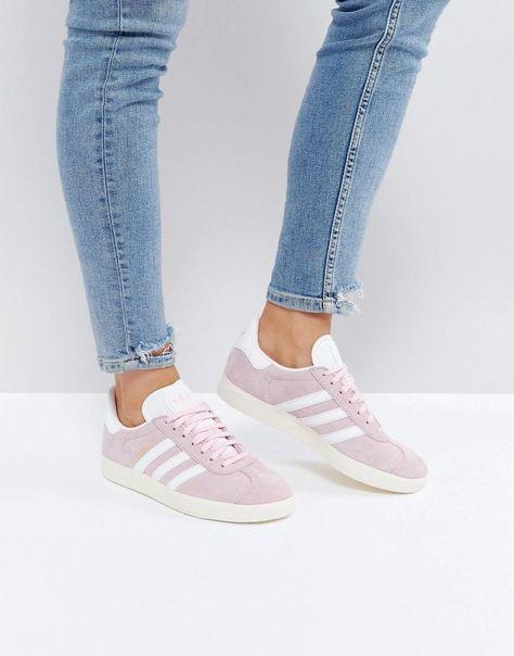ASOS #adidas adidas Originals Gazelle In Pale Pink Pink