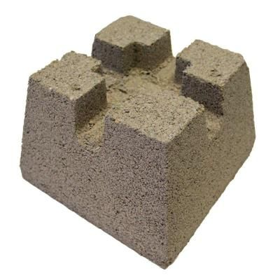 Concrete Pier Block With Metal Bracket 8053112 The Home Depot In 2020 Concrete Deck Concrete Deck Blocks Deck Foundation