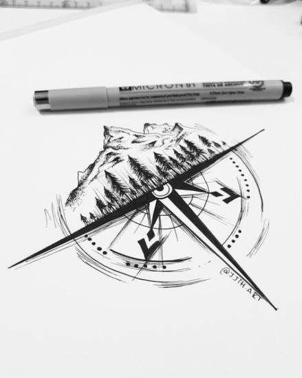 Best art tattoo sleeve compass ideas #tattoo #art
