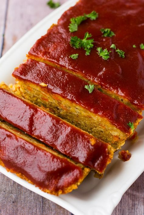 A Classic Tasting Vegan Meatloaf Made From Chickpeas Vegan Worcestershire Sauce And Breadcrumbs This Is Not An Cheap Vegan Meals Cheap Vegan Vegan Meatloaf