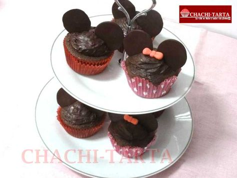 Cupcakes Mickey & Minnie mouse (sin gluten)