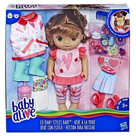 Baby Alive So Many Styles Baby Brown Straight Hair Baby Alive