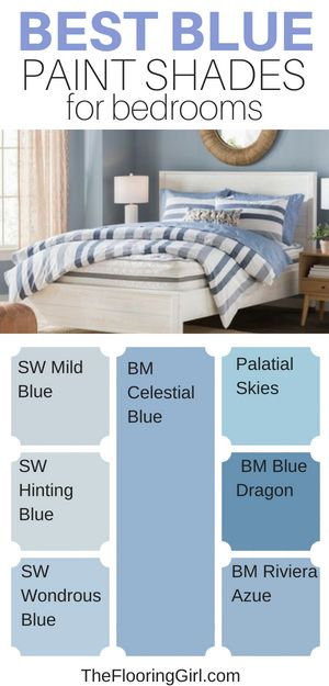 The 5 Best Paint Colors For Bedrooms   Blue bedroom paint ...