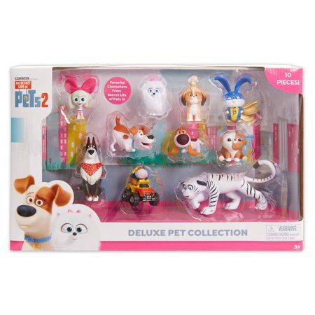 Secret Life Of Pets 2 Deluxe Pet Collection 10 Pack Walmart Com In 2020 Secret Life Of Pets Pet Toys Secret Life
