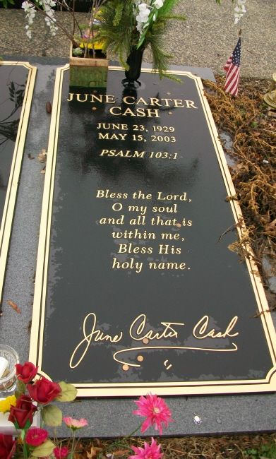 June Carter Cash wife of Johnny Cash (Singer/Actress) June C. Cash was wedded to the best country singer in the USA.