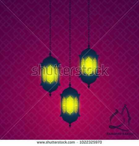 Ramadan Greeting Card Background With Glowing Lantern Greeting Card Template Ramadan Greetings Greeting Cards