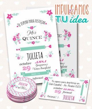 Tarjeta De Quince Invitacion De Quince Julieta Imprimible