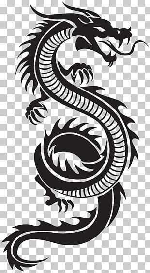 Chinese Dragon Illustration Png Clipart Animation Art Black And White China Ch Tatouage Dragon Tribal Dragon Chinois Dessin Illustration Design Graphique