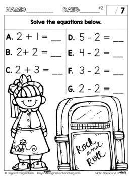 Kindergarten Math Worksheets Addition And Subtraction Common Core Aligned Kindergarten Math Worksheets Addition Kindergarten Math Kindergarten Math Worksheets