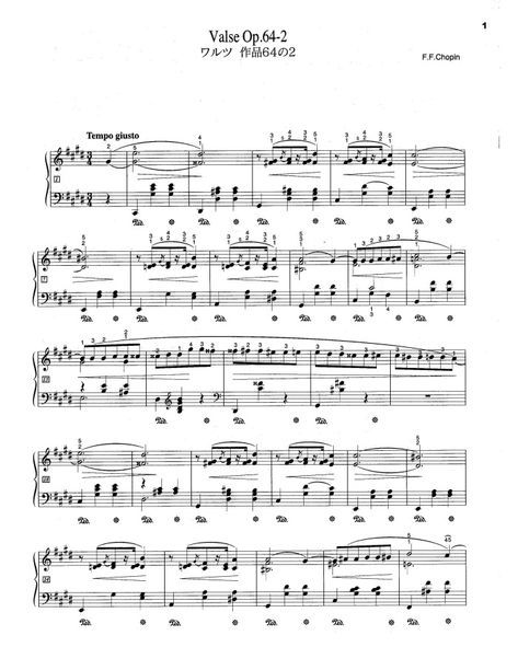 Op 64 No 2 Free Sheet Music By Chopin Pianoshelf Sheet Music Violin Sheet Music Free Sheet Music