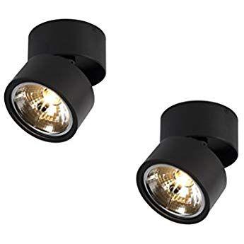 Qazqa Design Industrie Industrial Modern 2 Flammiger Set Spot Spotlight Deckenspot Deckenstrahler Strahler Lampe Leuchtes Deckenstrahler Innenbeleuchtung Lampe