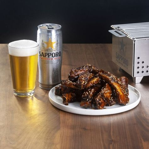 For a burst of flavor at your next summer gathering, turn to Chef Shota Nakajima's pork ribs marinated in tare — pair it with a smooth Sapporo Premium Beer for the ultimate cookout experience. Find more East meets West recipes and enter for your chance to win a summer grilling kit featuring a YAK grill  more.