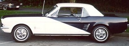 1966 Player's Mustang special edition featured a special blue and white exterior paint scheme to match the Player's cigarette package, 200ci 6-cylinder engine, full wheel cover, and AM radio.