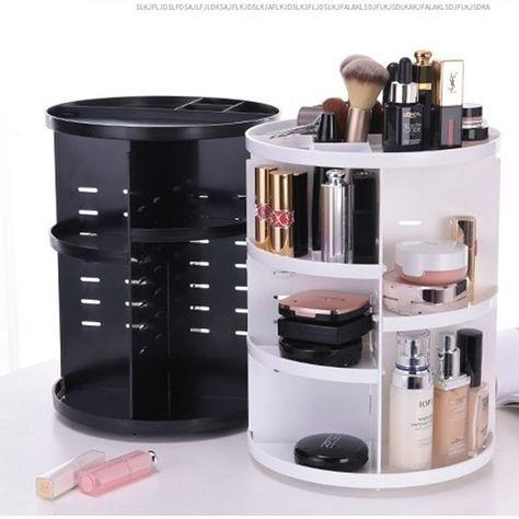 Big SALE New Fashion Rotating Makeup Organizer Box Brush Holder Jewelry Organizer Case Jewelry Makeup Cosmetic Storage Box