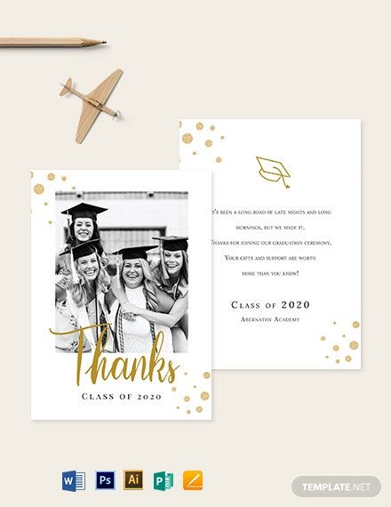 College Graduation Thank You Card Template Free Pdf Word Psd Apple Pages Illustrator Publisher Graduation Thank You Cards Thank You Card Template Card Template
