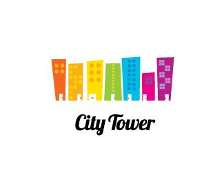 Charming City Tower Logo Design   Ideal Logo For Any Real Estate Or Property Agent,  Painting