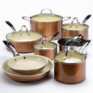 Food Network 13 Pc Ceramic Nonstick Cookware Set Kohls In 2020 Ceramic Nonstick Cookware Copper Cookware Set Nonstick Cookware