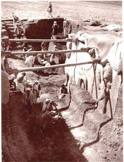 أكتشاف الثور المجنح عام 1941 Art Painting