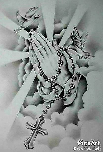 Pin By Violet M2020 On Art Of Light Praying Hands Tattoo Design Tattoos Tattoo Designs