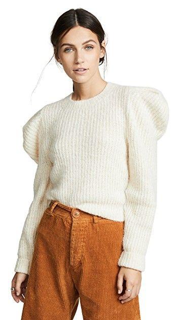 Philosophy Di Lorenzo Serafini Puff Sleeve Sweater Sweater Sleeves Sweater Outfits Sweaters