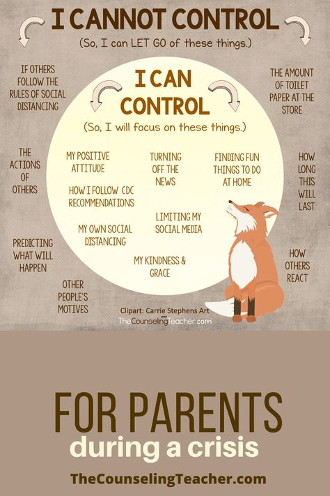 Share this poster with families during the recent shut downs of our schools.  Help parents put things in perspective. #anxietyrelief #anxietyreliefcrisis #thecounselingteacherbrandy #schoolcounselor #schoolcounseling