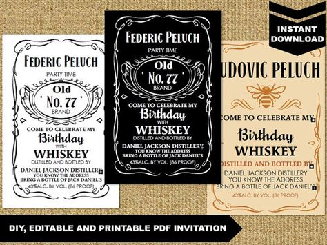 30 editable jack daniels label template